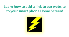 Did you know you can add a link to our website to your smart phone Home Screen?