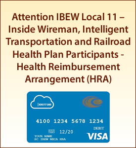 Attention Inside Wireman, Intelligent Transportation and Railroad Health Plan Participants