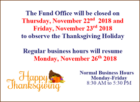 Closed for Thanksgiving Holiday.